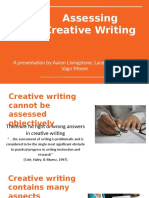 assessing creative writing