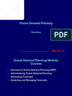 Oracle Demand Planning Overview