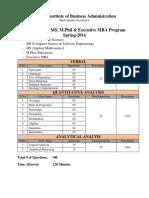 Ms(Mgt,Cs&Maths) Sample Test Paper Spring 2016 Nov 24 2015