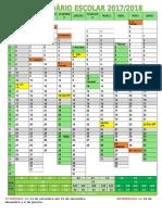 Calendário Escolar Ano Letivo 2017-2018