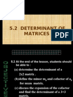 Determinant of Matrices