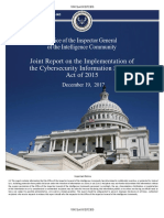 Office of the Inspector General of the Intelligence Community Joint Report on the Implementation of the Cybersecurity Information Sharing Act of 2015 December 19, 2017