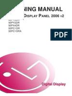 LG Plasma Display Panel Training Manual 2006 PDPTraining 2006 v2