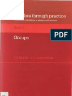 Byth T.S., Robertson E.F.-algebra Through Practice a Collection of Problems in Algebra With Solutions. Groups(1985)