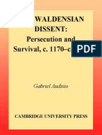 The Waldensian Dissent Persecution and Survival c 1170-c 1570