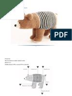 oso polar amigurumi