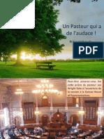 Un Pasteur Qui a de l'Audace
