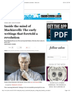 Inside the Mind of Machiavelli- The Early Writings That Foretold a Revolution - Salon.com
