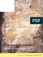 LOPRIENO 1995 Ancient Egyptian a Linguistic Introduction