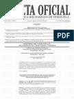 Unidad para el Cálculo Aritmético del Umbral  Máximo y Mínimo Gaceta N° 6.360
