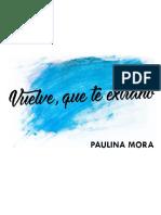 Vuelve, que te extraño, De Paulina Mora