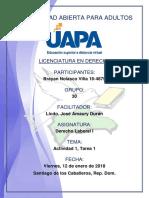 Tarea 1 Derecho Laboral I 12-01-2018