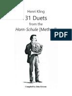 Kling  31 Horn Duets