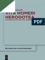 (Beiträge zur Altertumskunde 256) Maria Vasiloudi-Vita Homeri Herodotea_ Textgeschichte, Edition, Übersetzung-Walter de Gruyter (2013).pdf