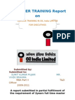 summer training report on oil india limited