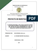 LA PROTECCIÓN PENAL, EN EL DELITO DE EXPLOTACIÓN POR TRABAJO INFANTIL CONCERNIENTES AL ART. 128° DEL CPP, EN LOS CASOS DE MENORES DE 12 AÑOS DE EDAD EN EL DISTRITO DE HUANCAVELICA-2016