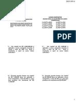 Lista 02 - Matematica Financeira - Fmb - Banco Do Brasil - 2014
