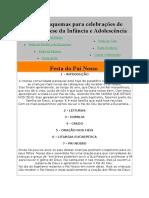 Alguns esquemas para celebrações de Catequese da Infância e Adolescência.doc
