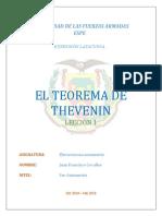 El Teorema de Thevenin