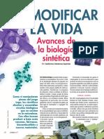 Modificar La Vida Avances de La Biologia Sintetica