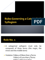 Rules Governing a Categorical Syllogism