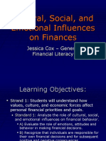 cultural social and emotional influences on finances