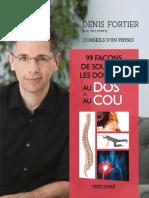 99 Façons de Soulager Les Douleurs Au Dos Et Au Cou - Denis Fortier