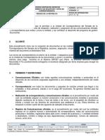 Proceso de Gestion de Archivo Manual de Correspondencia