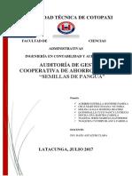 Auditoria de Gestion Cooperativa Semillas de Pangua
