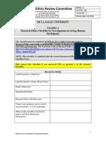 Checklist a Human Participants