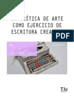 La Critica de Arte Como Ejercicio de Escritura Creativa 2017 2