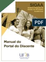 Manual Portal Discente Sigaa