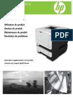 Imprimante HP LaserJet P3015 Guide Et Mode d'Emploi