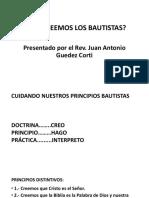 Qué Creemos Los Bautistas. Pastores Portuguesa.