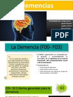 Demencia en La Enfermedad de Alzhelmer