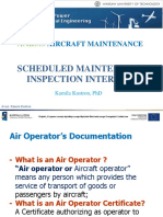 Schedule maintenance inspection intervals-aircraft