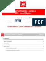 Observatoire de l'opinion - Septembre 2010 - Cotes de popularité