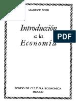 Introducción a La Economía Maurice Dobb