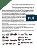 Tipos de Automoviles