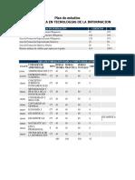 Plan de Estudios Tecnologias de La Informacion (Para Induccion)