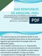 Energias Renovables en Arequipa Peru