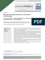 Percepción Del Plagio Académico en Estudiantes de Odontología