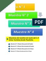 marcador de muestras e descripcion