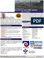 Agenda - Subsea Pipeline Pre-Commissioning Operations Management 2018 Mar KL