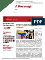 Prestes a Ressurgir_ a CIA e a Contra-revolução Na Venezuela