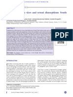 Deciduous Molar Sizes and Sexual Dimorphism_South Indian Study