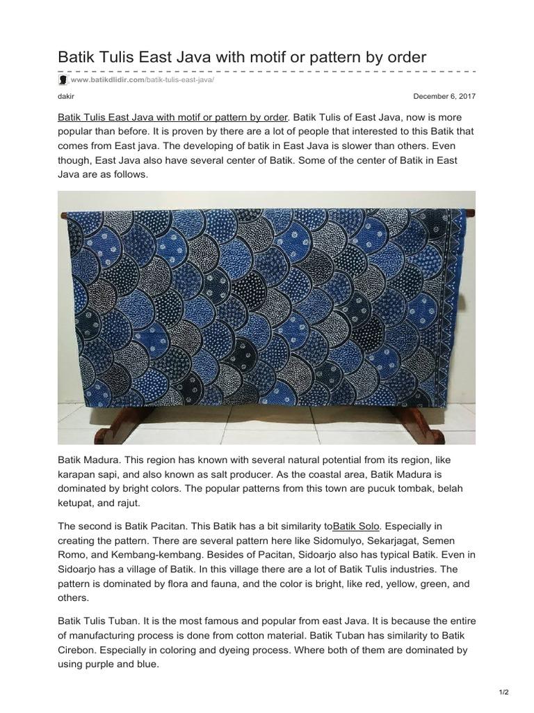 Batikdlidir com-Batik Tulis East Java With Motif or Pattern