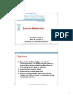 Kuliah 3 Exercise Metabolism