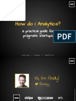 Analytics for startups