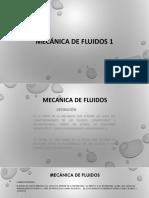 Mecánica de Fluidos 1
